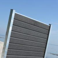Kirkedal Komposit Hegn - Galvaniseret Design Serie