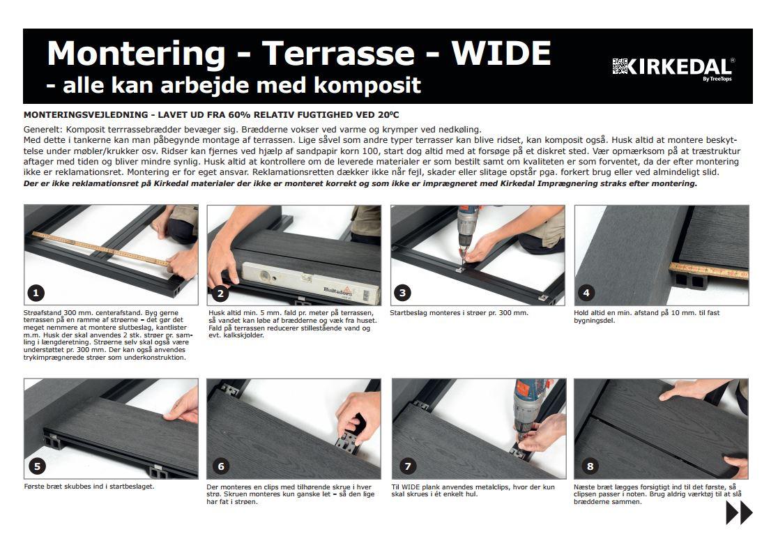 terrasse_wide, komposit terrasse montering